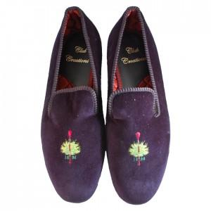 Club Designed Velvet Slippers