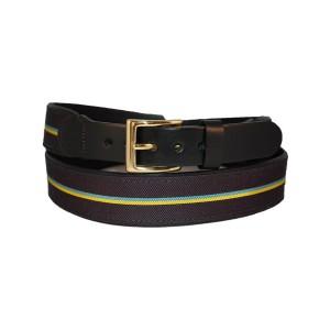 Leather-backed Ribbon Belt