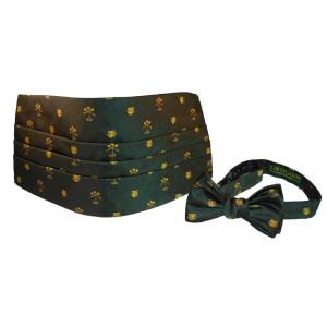 Logoed Cummerbund Bow Tie Set
