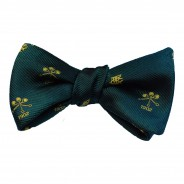 Logoed butterfly bow tie