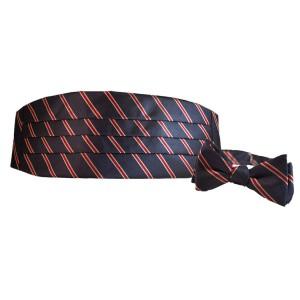 Striped Cummerbund Bow Tie Set